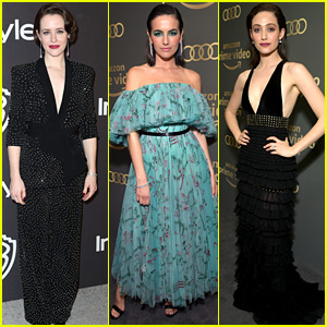 Claire Foy, Camilla Belle, & Emmy Rossum Switch Up Their Looks for Golden Globes After Parties!
