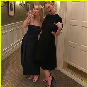 Dakota & Elle Fanning Celebrate New Year's Eve with Fabulous Party!