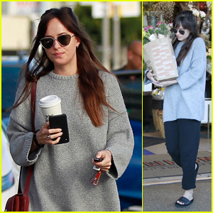 Dakota Johnson Goes Grocery Shopping & Grabs Lunch in West Hollywood