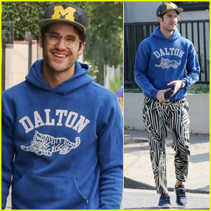Darren Criss Rocks Zebra-Print Pants for Day Out in L.A.