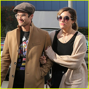 Darren Criss & Fiancee Mia Swier Grab Lunch With Parents After Golden Globes Win!