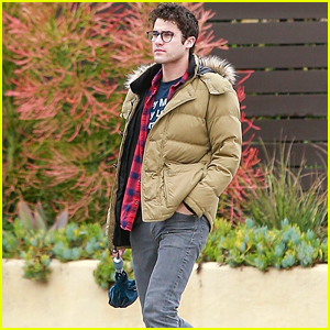 Darren Criss Heads Out for Breakfast Ahead of a Rainy Day in LA