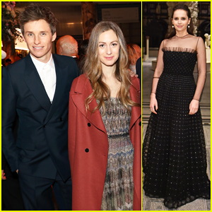Eddie Redmayne & Felicity Jones Reunite at Dior: Designer Of Dreams Opening Gala!