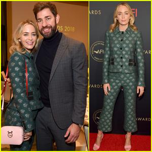 Emily Blunt & John Krasinski Couple Up at AFI Awards 2019!