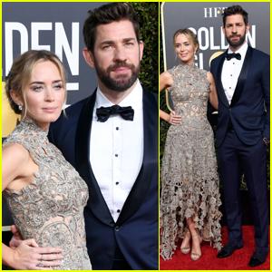 Emily Blunt & John Krasinski Are Picture Perfect at Golden Globes 2019!