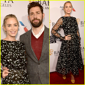 Emily Blunt & John Krasinski Couple Up for BAFTA Tea Party!