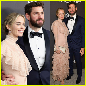 Emily Blunt & John Krasinski Couple Up for InStyle's Golden Globes After Party