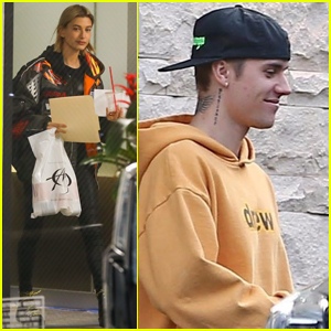 Hailey & Justin Bieber End Their Day with a Meeting