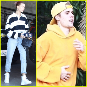 Hailey & Justin Bieber Spend the Day at a Photo Shoot
