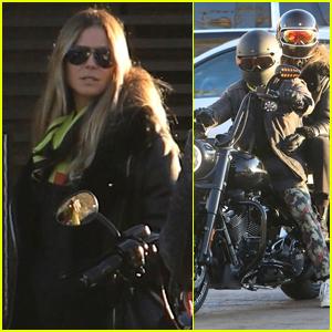 Heidi Klum & Fiance Tom Kaulitz Head Out for Motorcycle Ride!