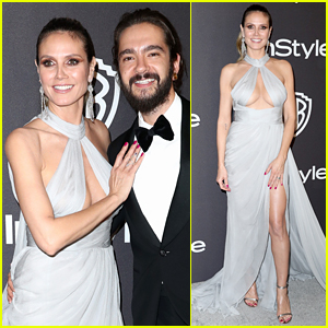 Heidi Klum Shows Some Skin at Golden Globes 2019 After Parties With Fiance Tom Kaulitz