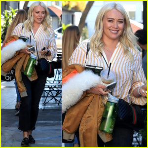 Hilary Duff Shows Off Platinum Blonde Locks While Leaving the Salon!