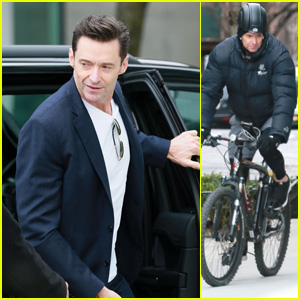 Hugh Jackman Heads Out on a Bike Ride in New York City