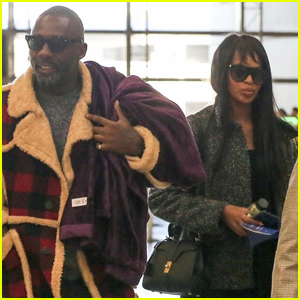Idris Elba & Fiancee Sabrina Dhowre Jet Out of LAX Together