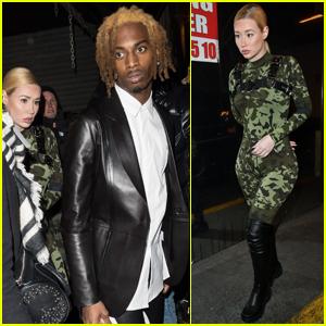 Iggy Azalea & Rumored Boyfriend Playboi Carti Step Out During Paris Fashion Week