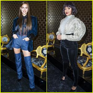 Irina Shayk & Kat Graham Sit Front Row at Jean-Paul Gaultier Paris Fashion Show!