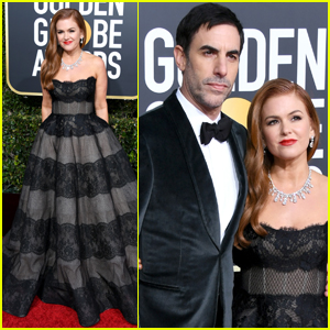Isla Fisher Supports Sacha Baron Cohen at Golden Globes 2019