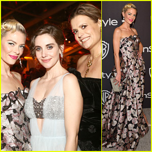 Jaime King Joins the 'GLOW' Cast at Golden Globes After Parties