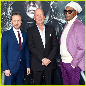 James McAvoy, Bruce Willis, & Samuel L. Jackson Suit Up for 'Glass' NYC Premiere!