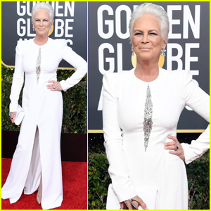 Jamie Lee Curtis Looks Wonderful in White at Golden Globes 2019!