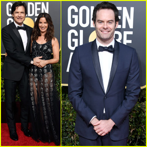 Jason Bateman & Bill Hader Suit Up For Golden Globes 2019!