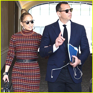 Jennifer Lopez & Alex Rodriguez Dress to Impress for a Meeting