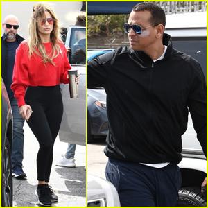 Jennifer Lopez & Alex Rodriguez Hit the Gym Together in Miami!