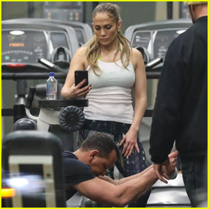 Jennifer Lopez & Alex Rodriguez Work Out Together in Santa Monica!