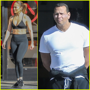 Jennifer Lopez Bares Chiseled Abs During Workout with Alex Rodriguez!