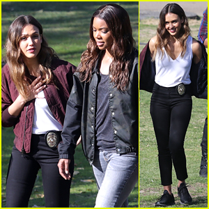 Jessica Alba & Gabrielle Union Get Back to 'L.A.'s Finest' Filming!