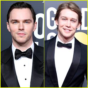 'The Favourite' Stars Nicholas Hoult & Joe Alwyn Wear Bowties To Golden Globes 2019