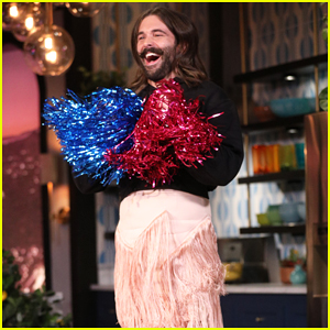 Jonathan Van Ness Shows Off His Cheerleading Skills on 'Busy Tonight' - Watch Here!