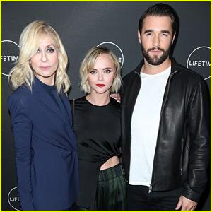 Christina Ricci, Josh Bowman, & Judith Light Promote Their Lifetime Movie!