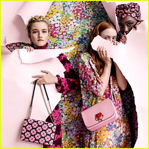 Julia Garner, KiKi Layne, & Sadie Sink Get Colorful for Kate Spade's Spring 2019 Campaign