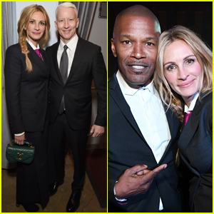 Julia Roberts Joins Her Famous Friends at Sean Penn's Gala