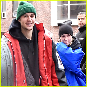 Justin Bieber & Wife Hailey Bundle Up for Lunch Date in NYC