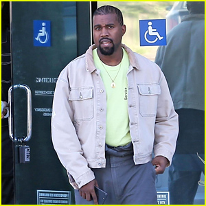 Kanye West Heads Out After Visiting His Office in Calabasas