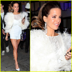 Kate Beckinsale Dazzles in White for New Year's Eve Party!