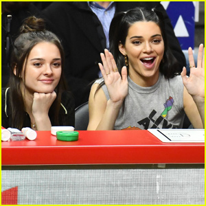 Kendall Jenner & Charlotte Lawrence Have a Girls Night at Philadelphia 76ers' Game