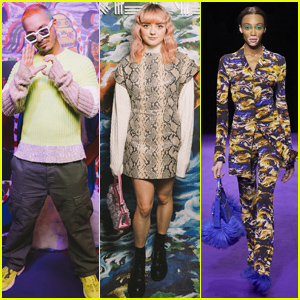 J Balvin, Maisie Williams & Winnie Harlow Attend Kenzo Show During Paris Fashion Week!