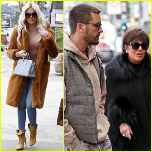 Khloe Kardashian, Kris Jenner, & Scott Disick Grab Lunch While Filming 'KUWTK'