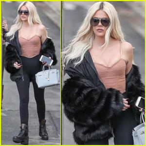 Khloe Kardashian Shows Her Style While Leaving 'KUWTK' Taping