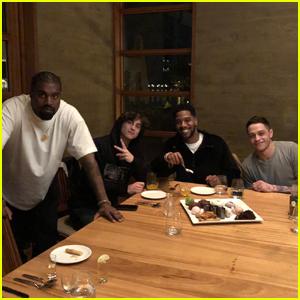 Kid Cudi Celebrates His Birthday with Kanye West, Timothee Chalamet, & Pete Davidson!