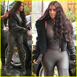 Kim Kardashian Shows Off Her Figure in Catsuit For Lunch Outing!