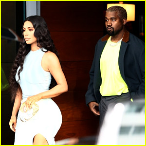 Kim Kardashian Wears Form-Fitting Dress While Shopping with Kanye West in Miami