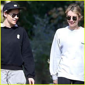 Kristen Stewart & Emma Roberts Go Hiking in Griffith Park