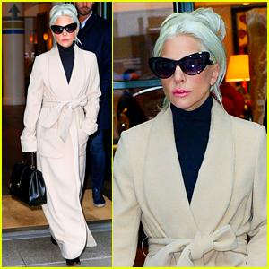 Lady Gaga Keeps It Chic & Sophisticated in Long Beige Coat