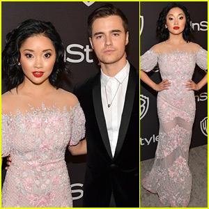 Lana Condor & Boyfriend Anthony De La Torre Couple Up at Golden Globes After Parties!