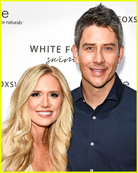 Arie Luyendyk Jr. & Lauren Burnham Didn't Take Any Chances with Her Wedding Dress at the Airport!
