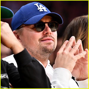 Leonardo DiCaprio Wears His Sunglasses Inside While Watching Lakers